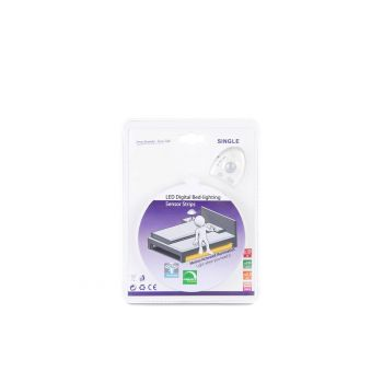 תאורת LED דיגיטל למיטת - יחיד