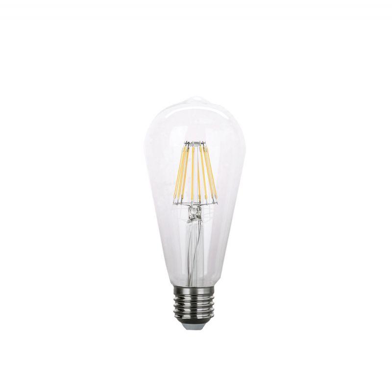 פילמנט 2700K 8W E27 LED אגסי לעמעום אור צהוב