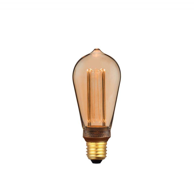 פילמנט LED דיימונד 2000K 4W ST64 אור צהוב