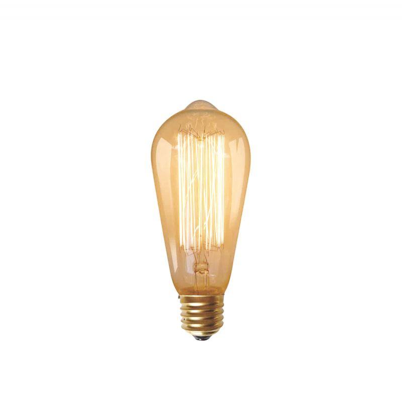 נורת פחם דקורטיבית אגסי 40W E27 אור צהוב