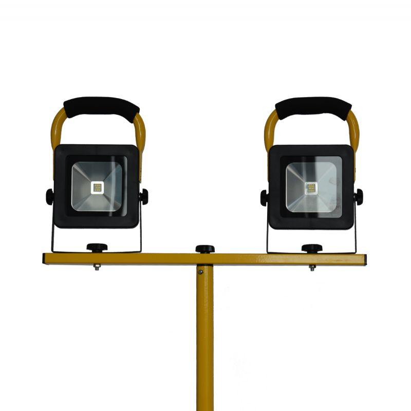 סאן זוגי LED 2X10W נטען + מטען