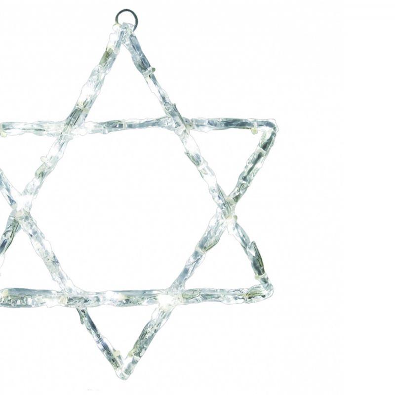 מגן דוד תליה לבן