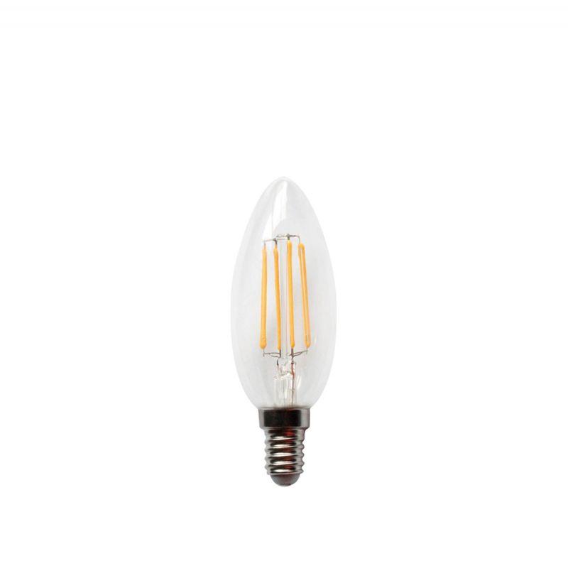 לדרסון פילמנט נר E14 LED 4W אור צהוב