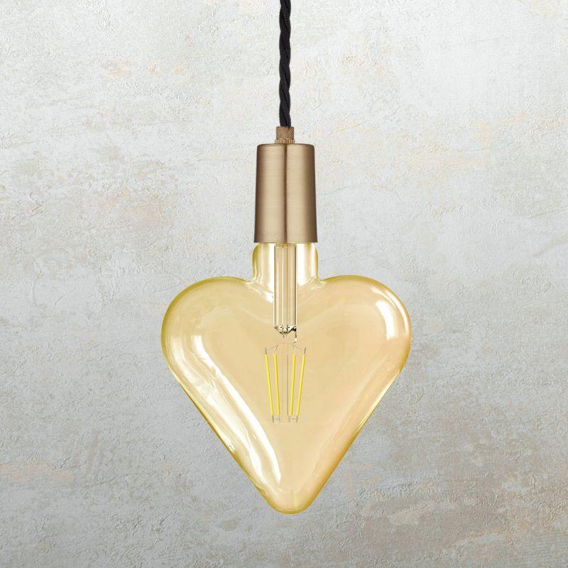 לדרסון פילמנט סליל לב E27 4W אור צהוב