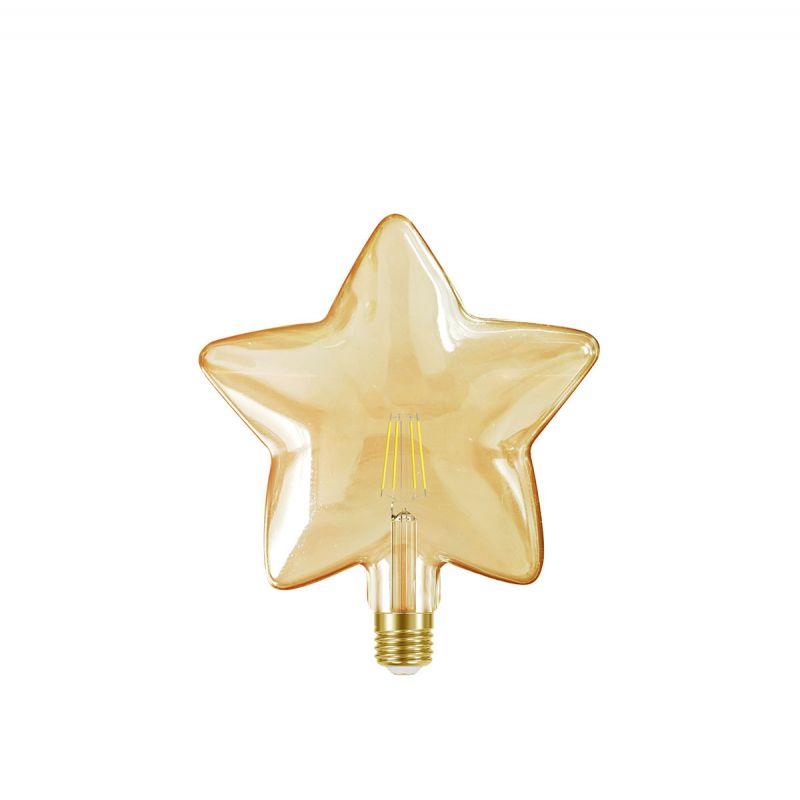 לדרסון פילמנט סליל כוכב E27 4W אור צהוב