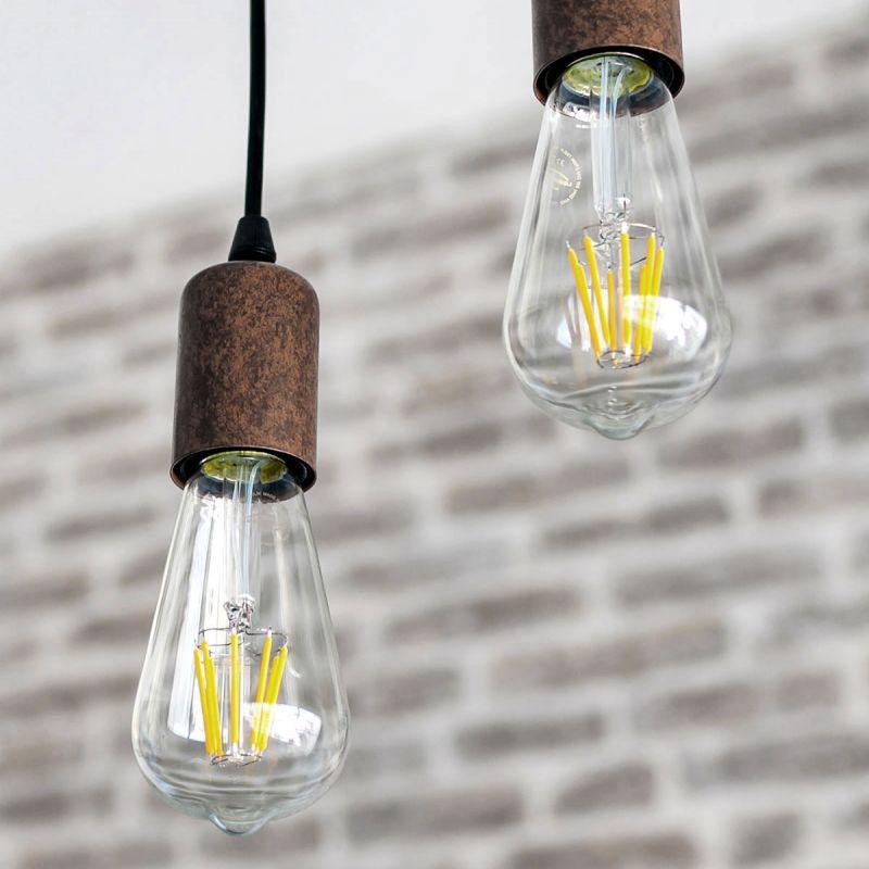 לדרסון פילמנט אגסי E27 LED 7W אור צהוב