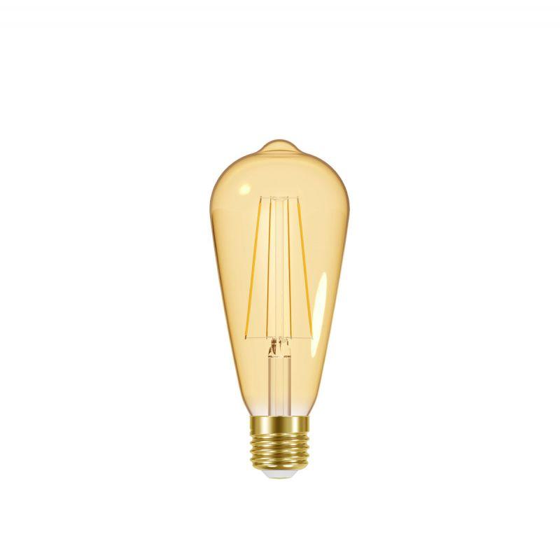 לדרסון פילמנט אגסי E27 LED 7W אור צהוב זהב