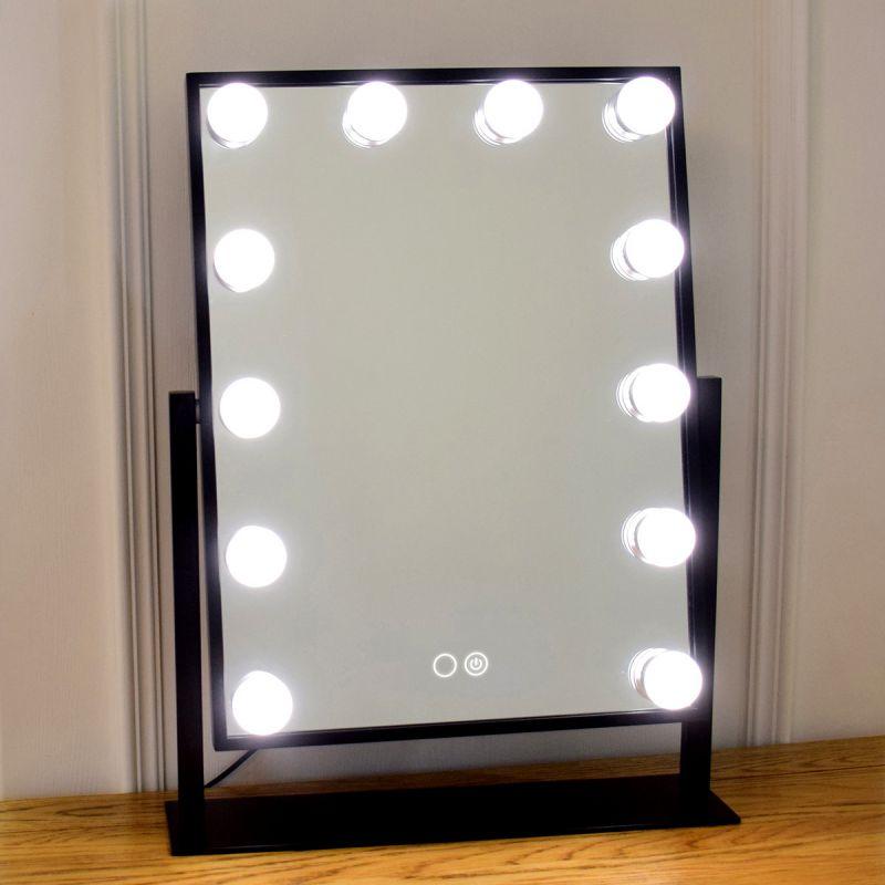 דפני מראה LED CCT עמעום + מפסק