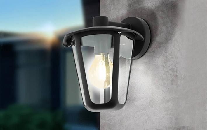 תמונת אווירה מנורות קיר חוץ